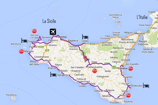 Itinéraire road trip en Sicile
