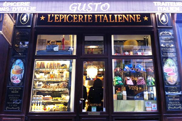 Gusto épicerie italienne à Paris