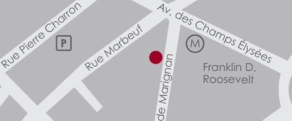 Plan d'accès au Wine by One Paris 8