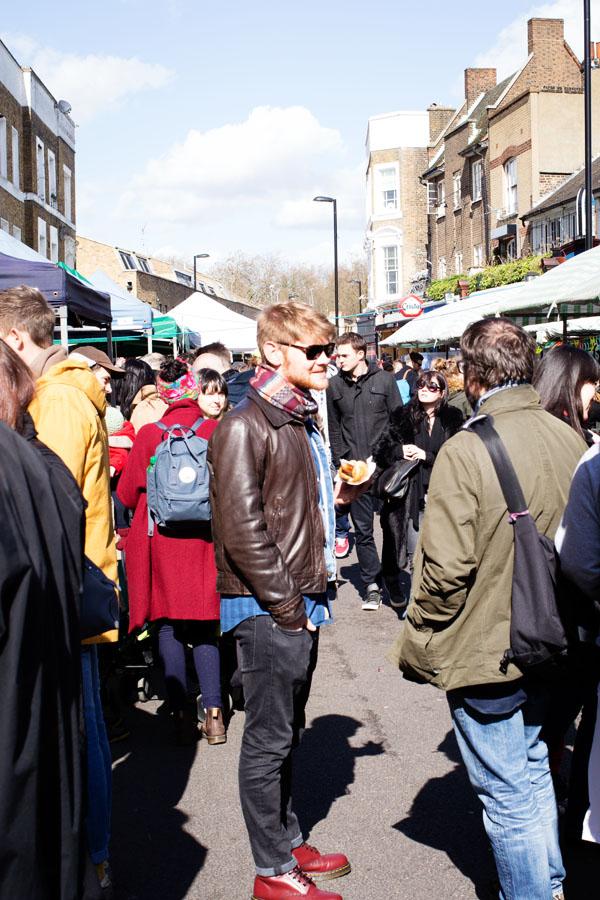 Arrivée sur Broadway Market - Est de Londres