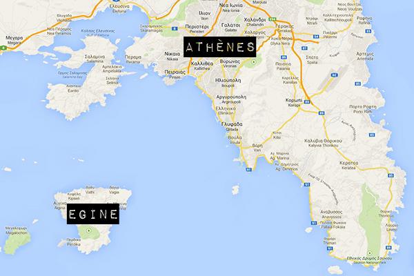 Plan de Grèce avec Egine