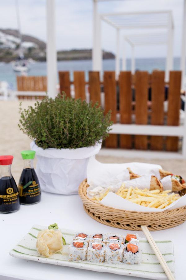 Restaurant Kuzina sur Ornos plage