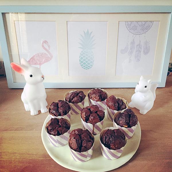 Cupcake brownie chocolat sans gluten