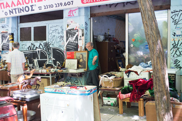 Brocante rue Tositsa Thessalonique
