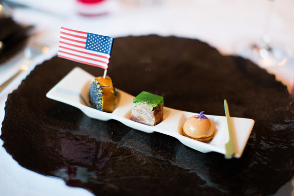 Mise en bouche restaurant gastronomique Hostellerie de Levernois