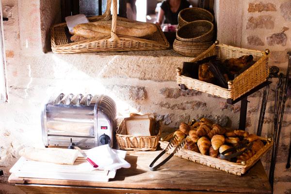 Petit déjeuner de l'Hostellerie de Levernois