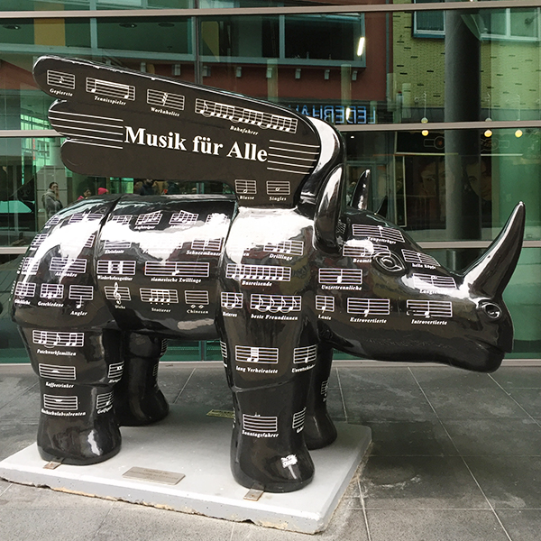 Rhinocéros symbole de Dortmund