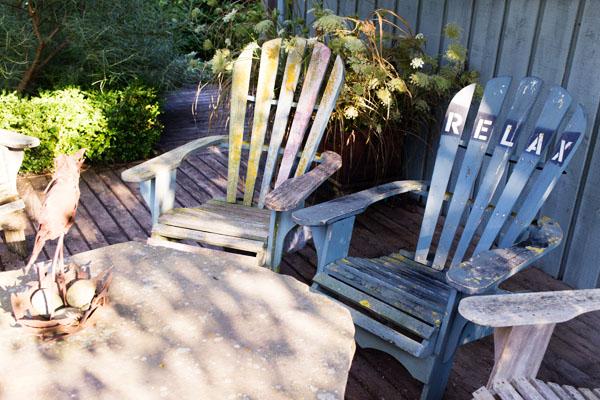Tangled garden à Grand Pré Nova Scotia