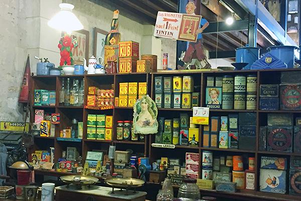 Musée des commerces d'autrefois à Rochefort - Epicerie