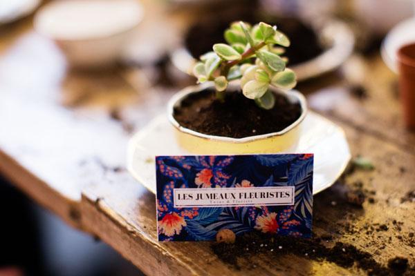 CRéation florale avec Les Jumeaux Fleuristes